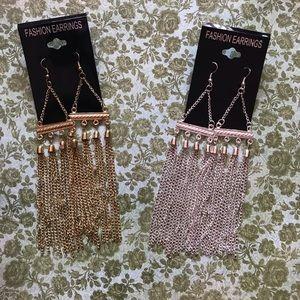 Shoulder Dusting Earrings Gold Or Silver